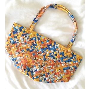 Handbags - Clearance‼️ Unique Recycled Weave Bag
