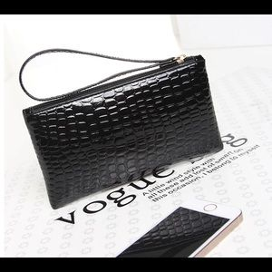  Faux Croc wristlet- perfect to hold phone
