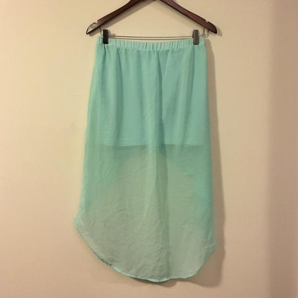 72 zara dresses skirts zara mint high low skirt