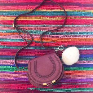 Accessories - Ivory rabbit fur Pom Pom keychain!