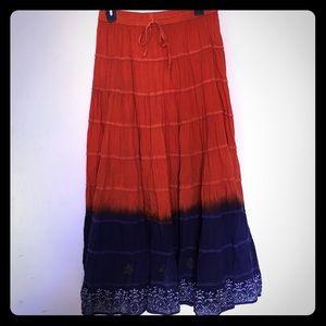 Vibrant Bohemian Maxi Skirt