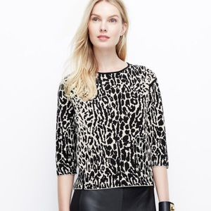 Ann Taylor structured leopard pullover
