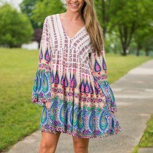 Cloud 9 Dresses & Skirts - Gorgeous🌿 Field of Dreams Tunic Dress