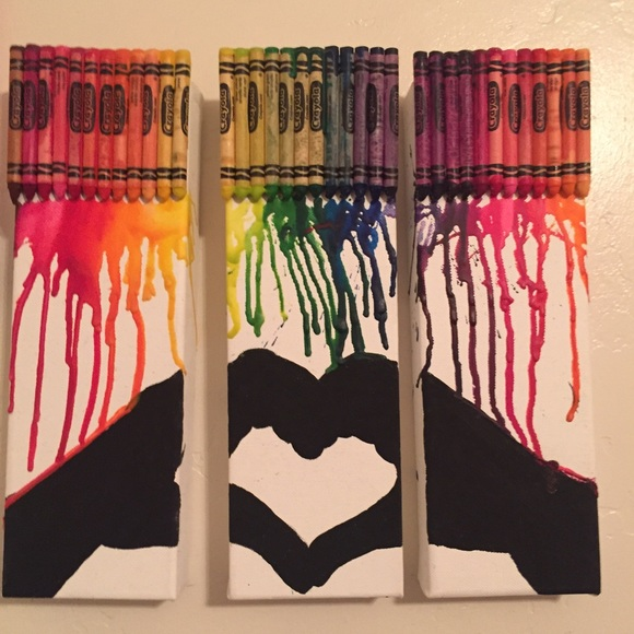 Brandy Melville Other | Melted Crayon Wall Art Hand Heart | Poshmark