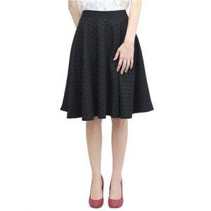 Relished Dresses & Skirts - Relished Black Polka Dot Swing Skirt (S, M, & L)