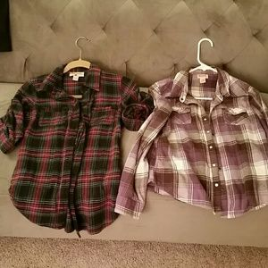 Tops - Bundle of flannel shirts