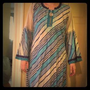 Sara Dresses & Skirts - Long blue Arabic style free dress
