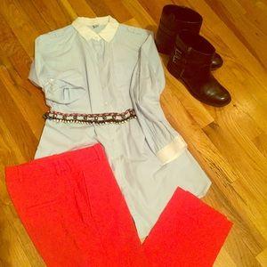 Zara Tops - Zara Baby Blue Button Down Shirt size: Small