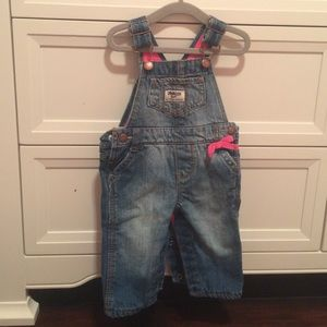 Other - Baby girl Jean/pink overalls