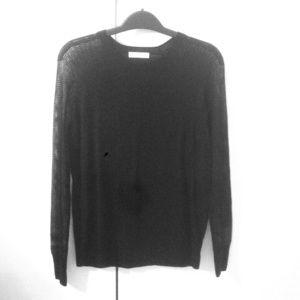Like new Equipment silk mesh sleeves sweater XS