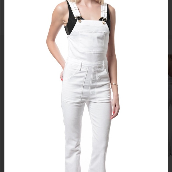 hot-selling official biggest selection sophisticated technologies FRAME denim white overalls SZ medium NWT NWT