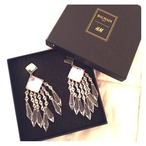 Balmain x H&M Chandelier earrings