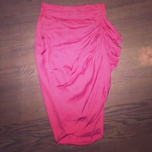 Stunning silk and poly all saints skirt coral
