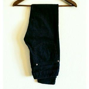 Free People Pants - Free People navy blue skinny corduroy pants