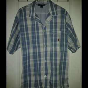 Polo Ralph Lauren Med. Button Top Red Pony Pajama
