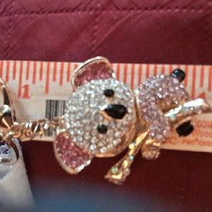 no name Accessories - Purse charm/keyring Rhinestone  Bear Pink White