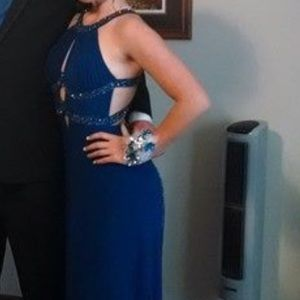 Royal Blue Cutout Prom Dress