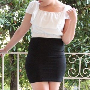 Momo Dresses & Skirts - Momo wonderocket.com Black and White Bandage Dress