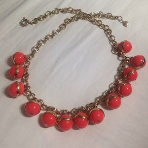 J Crew Coral Pink Statement Necklace