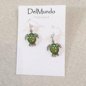 Handcrafted Sea Turtle Earrings