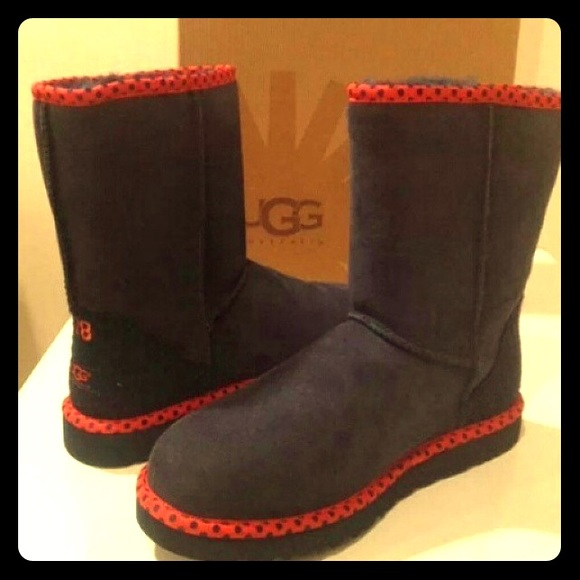 Pair of black(red) UGG boots size 8.5 Never worn!