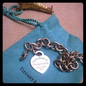 Tiffany & Co. 925 Sterling Silver Charm Bracelet