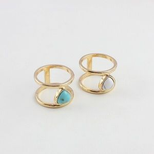Jewelry - Blue marble double ring