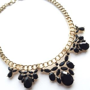 Relisted! Black crystal statement necklace