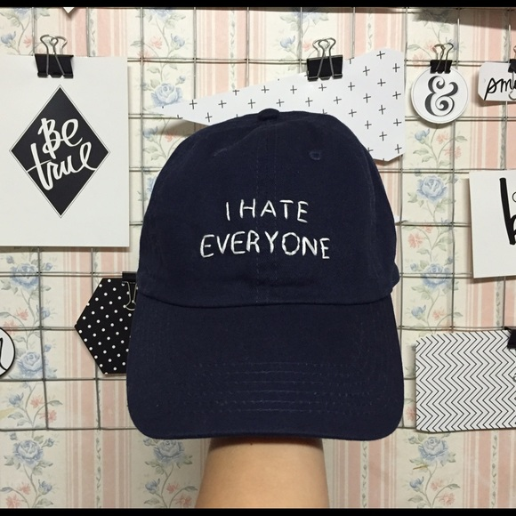 3a09dfc50bb Brandy Melville Accessories - Brandy Melville I Hate Everyone Cap