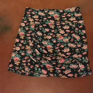 Free People sweet ruched floral skirt
