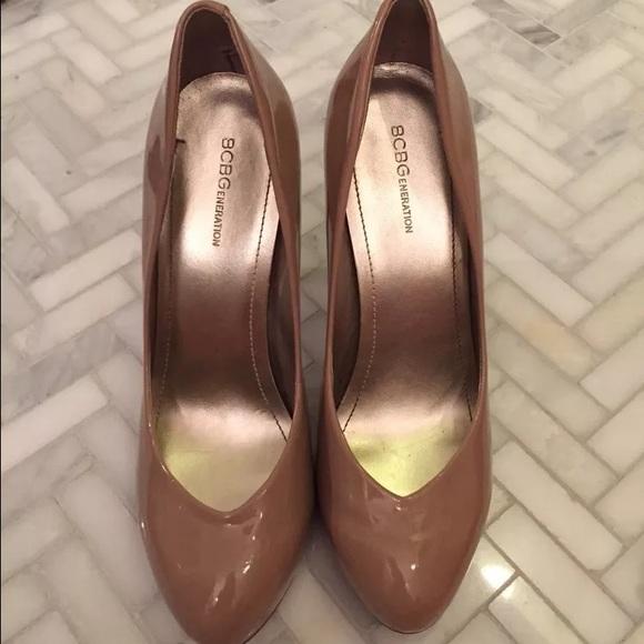 d689e23e3413 BCBGeneration Shoes - BCBG Beige Nude Tan Round Toe Pumps - High Heels