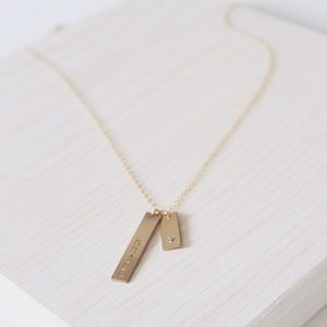 14k Gold Filled Personalized Tags Necklace