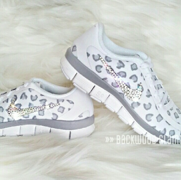 Nike Leopard With Bling Shoes  2ac055f57