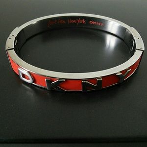 DKNY  Bracelet Red and Silver Steel