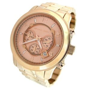 NEW Authentic Michael Kors Runway Rosegold Watch