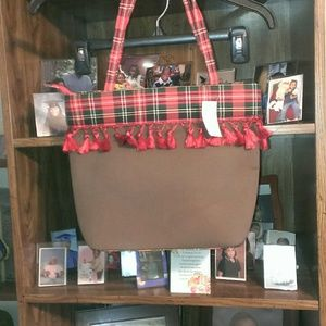 !*SALE*! Chocolate and Red Plaid Shoulder Bag