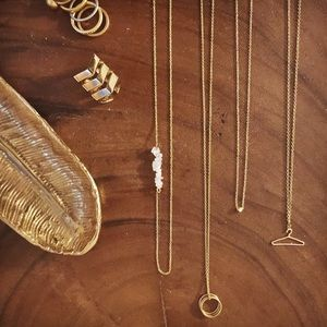 Jewelry - Delicate Moonstone Slide Necklace