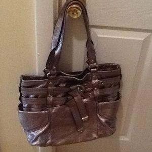 b. makowsky Handbags - B Makowsky silver Med-large hand bag SALE!!