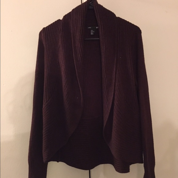 69% off H&M Sweaters - Burgundy Ribbed Cardigan from Nylejah's ...