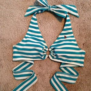 Juicy Couture Surf Royalty Striped Bikini Top