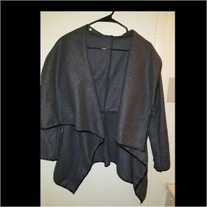 Grey and black flow sweater size s