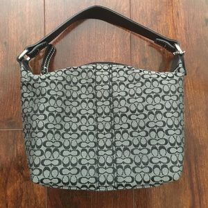 Gray Coach Mini Handbag