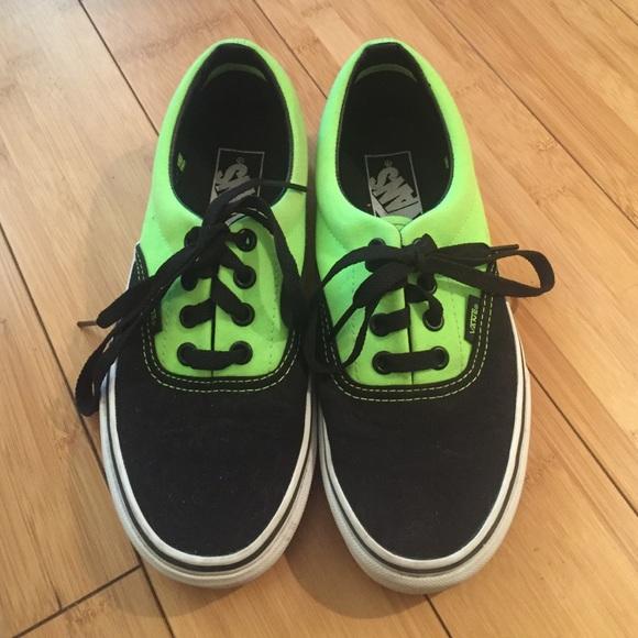 7270162cb8 Neon green and black vans. M 569ffc5799086a1c29007a32