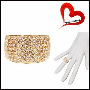 Boutique Jewelry - RING CRYSTAL 14k Gold Plated Crystal Statement
