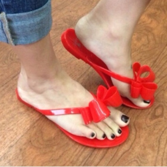 d42388967f1c0a 🆕LISTING Red Box Jelly Sandals
