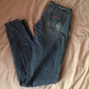 Miss Sixty Low Rise Destroyed Skinny Jean