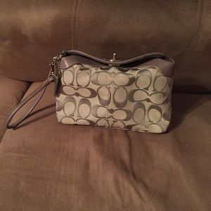 Authentic Large Coach Wristlet