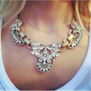 Sweet Crystal Statement Necklace