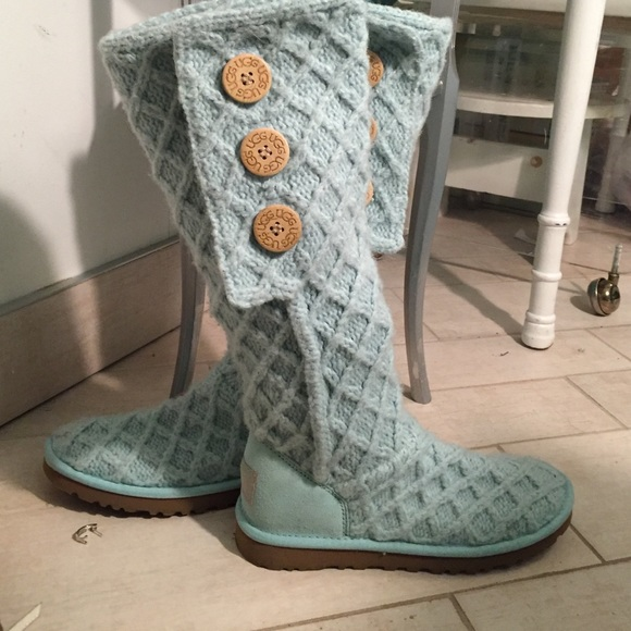 Baby Blue Knit UGG boots