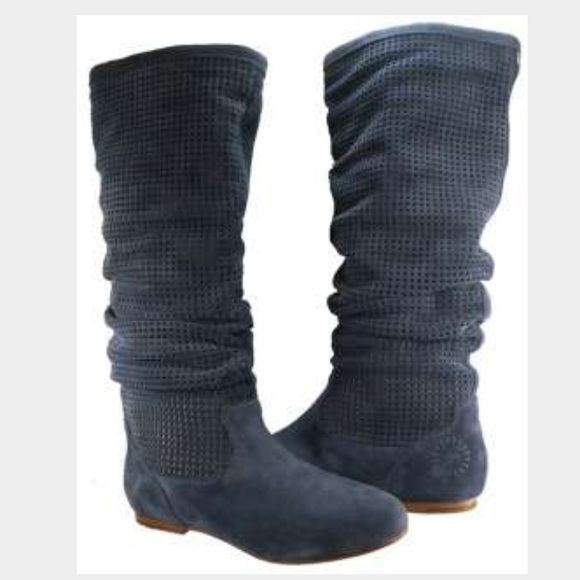 30 Off Ugg Shoes Ugg Blue Suede Slouch Flat Boots From